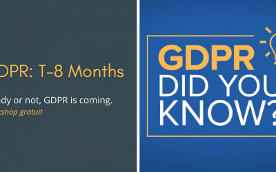 Workshop: T-8 months. Ready or not, GDPR is coming