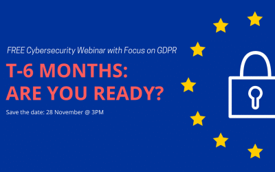 Webinar: Cybersecurity with GDPR focus
