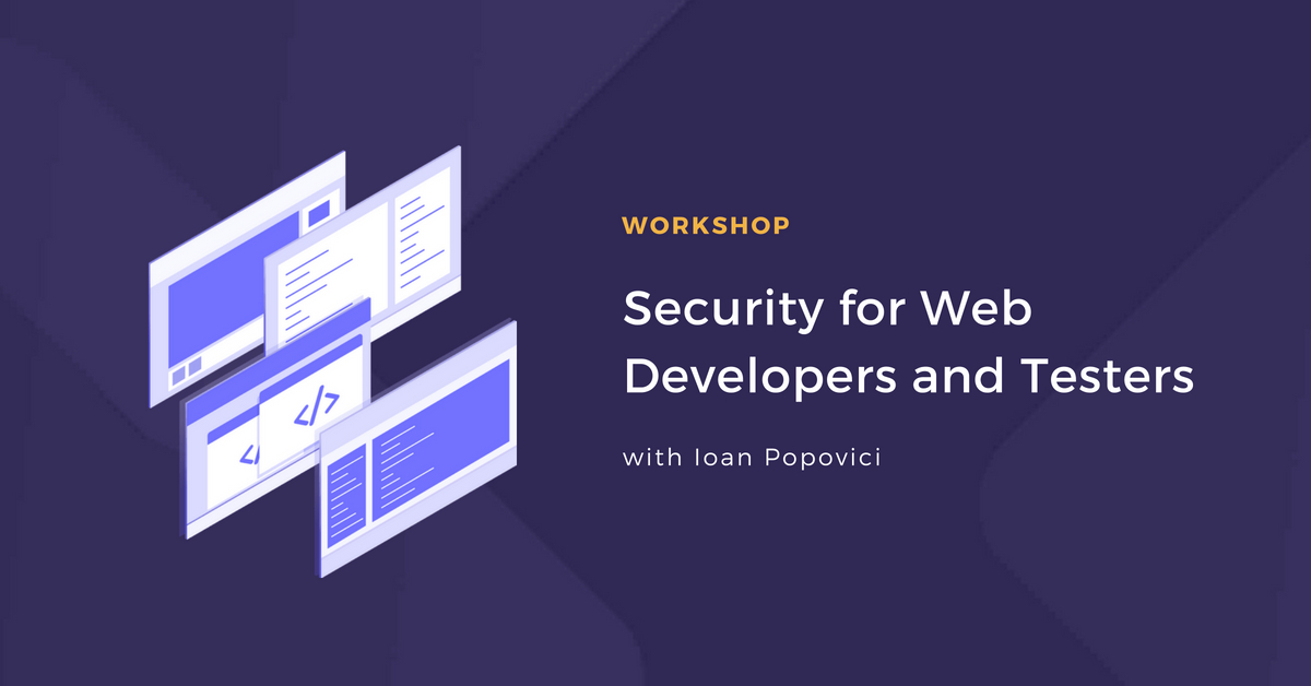 Security for Web Developers and Testers